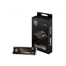 Msi 2TB M480 PCIe 4.0 NVMe M.2 SSD, Sequential Read Up To 7000MB/s, Sequential Write 6850MB/s, 1400 TBW, 5 Year Warranty