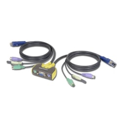 Iogear 2 Port MiniView Micro PS/2 Audio KVM Switch With Cables
