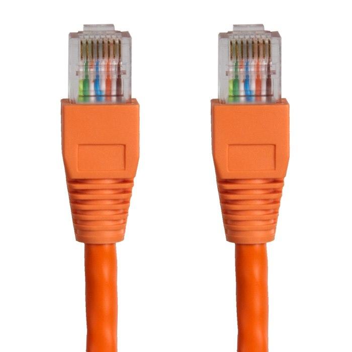 Cabac Hypertec 1M Cat6 RJ45 Orange Patch Lead RJ45