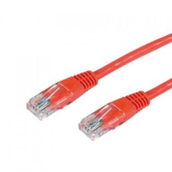 Cabac 0.5M Cat5RJ45 Red Red Patch Lead RJ45