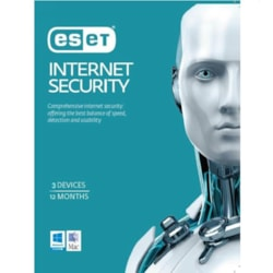 Eset Internet Security Oem 3 Devices 1 Year Download Physical Printed Download Card