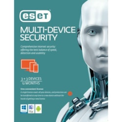 Eset Multi Device Security 3 Windows PCs Or Macs Or Linux + 3 Android Mobile Devices 1 Year Retail Physical Printed Download Card