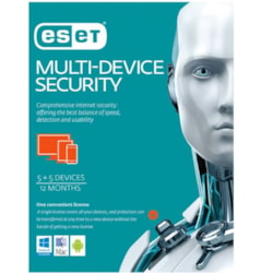 Eset Multi Device Security 5 Windows PCs Or Macs Or Linux + 5 Android Mobile Devices 1 Year Physical Printed Download Card