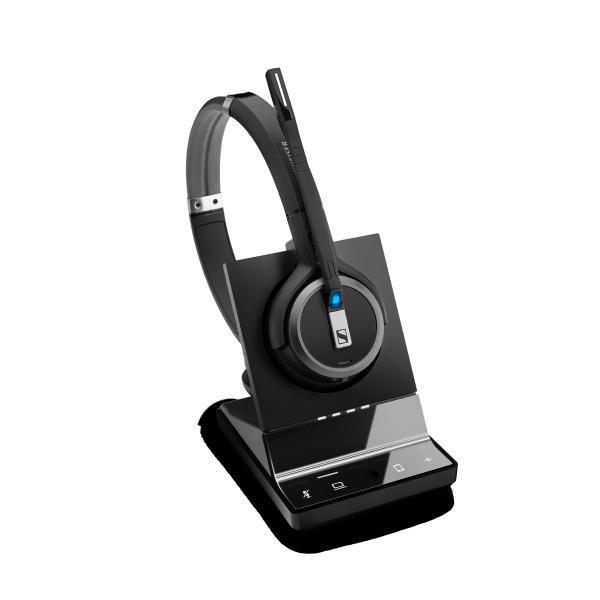 Sennheiser Epos | Sennheiser Impact SDW 5064 Dect Wireless Office Binaural Headset W/ Base Station, For PC & Mobile, With BTD 800 Dongle