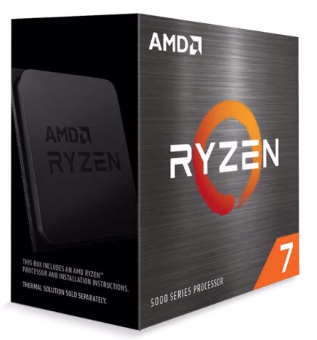 Amd Ryzen 7 5800X Zen 3 Cpu 8C/16T TDP 105W Boost Up To 4.7GHz Base 3.8GHz Total Cache 36MB No Cooler (Amdcpu) (Ryzen5000)