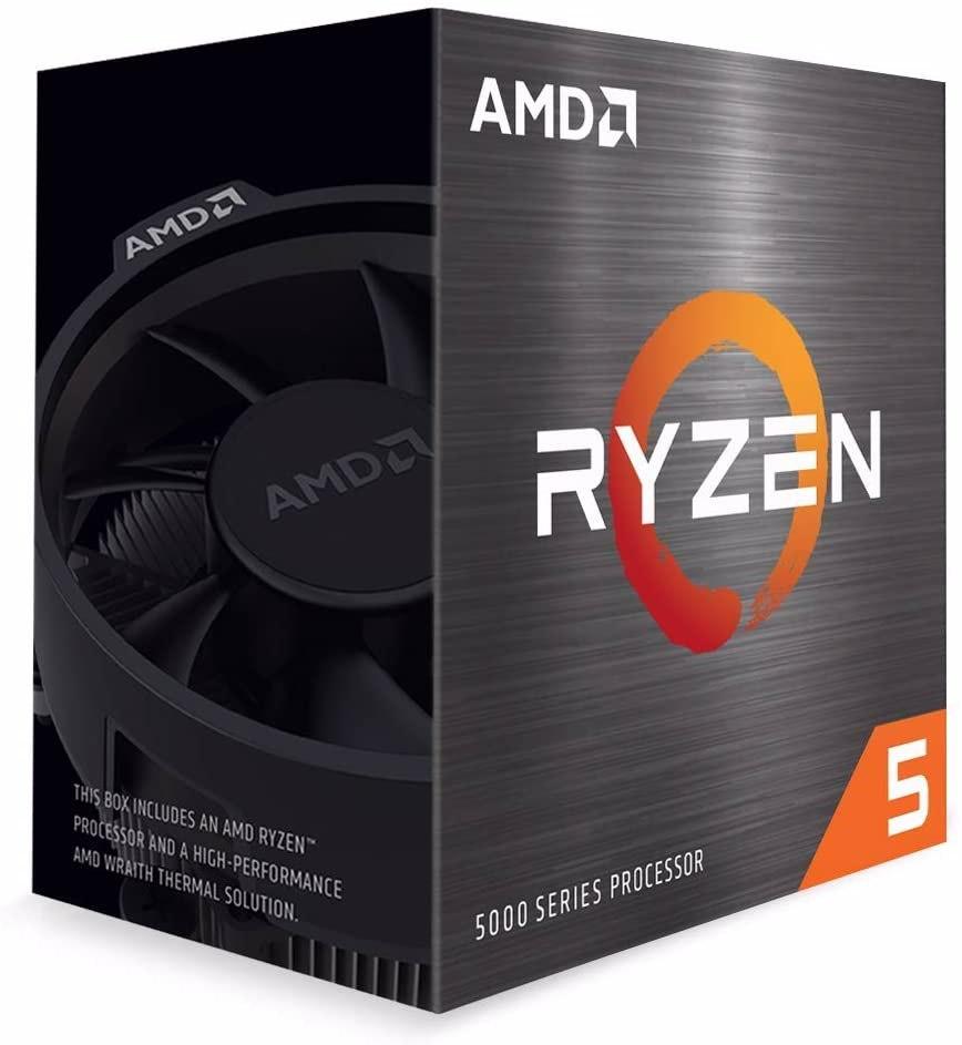Amd Ryzen 5 5600X Zen 3 Cpu 6C/12T TDP 65W Boost Up To 4.6GHz Base 3.7GHz Total Cache 35MB Wraith Stealth Cooler (Amdcpu) (Ryzen5000)