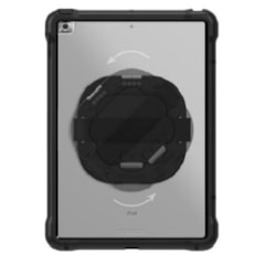 Otterbox Unlimited Series Pro Pack With Kickstand & Handstrap + Screen Protector For iPad 7TH/8TH Gen - Black
