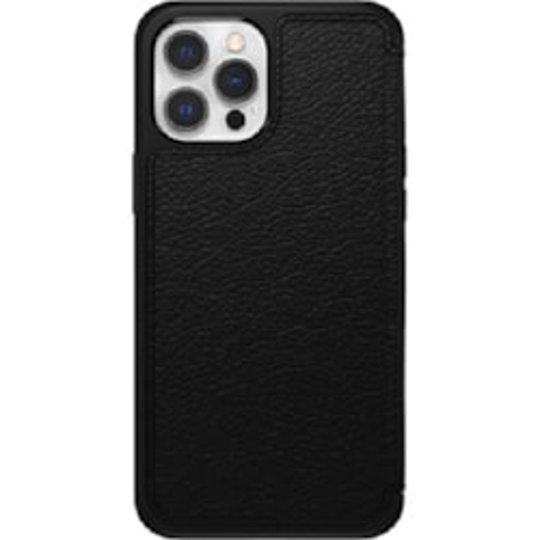 OtterBox Strada Series Case For Apple iPhone 12 Pro Max Shadow Black - Classic, Distinctive, Elegant Folio, Premium Materials Are Stylish, Protective