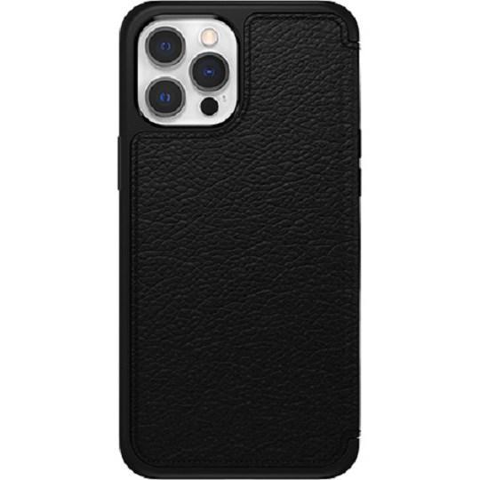 OtterBox Strada Series Case For Apple iPhone 12/12 Pro Shadow Black - Classic, Distinctive, Elegant Folio, Premium Materials Are Stylish, Protective