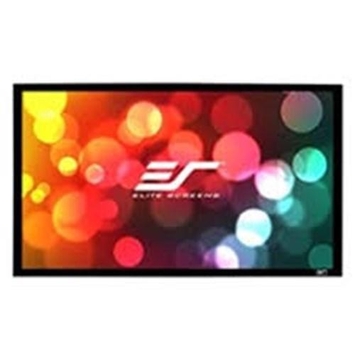 """Elite Screens 120"""""""" Fixed Frame 16:10 Sable Frame Projector Screen 6Cm Black Velvet Border"""