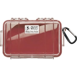 Pelican 1040 Micro Case Clr With Red