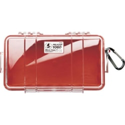 Pelican 1060 Micro Case - Clr With Red