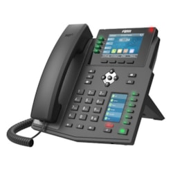 "Fanvil X5u - 16 Line Ip Phone, 3.5"" 480 X 320 Color LCD + 2.4"" Color LCD, 30 X DSS Key, Build In BT, Dual 1000Mbps Eth Port ( 2 Year Warranty )"