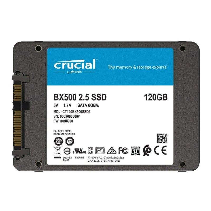 "Crucial BX BX500 120 GB Solid State Drive - 2.5"" Internal - SATA (SATA/600)"