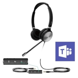 Yealink Uh36-D Teams Certified Wideband Noise Cancelling Headset, Usb And 3.5MM Connectivity, Stereo