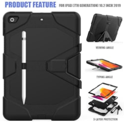 """Rugged Case for iPad 7th Gen 10.2"""" 2019-blue"""