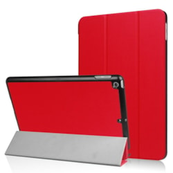 Casual Solid Suede Leather Cases for Apple iPad 9.7 6th 2018/2017 Tablet Case red