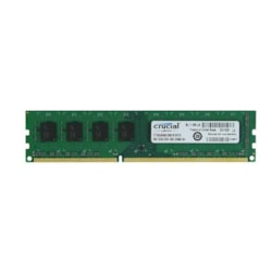 Crucial 8GB Single DDR3 1600 MT/s PC3-12800 CL11 Unbuffered UDIMM 240-Pin Desktop Memory