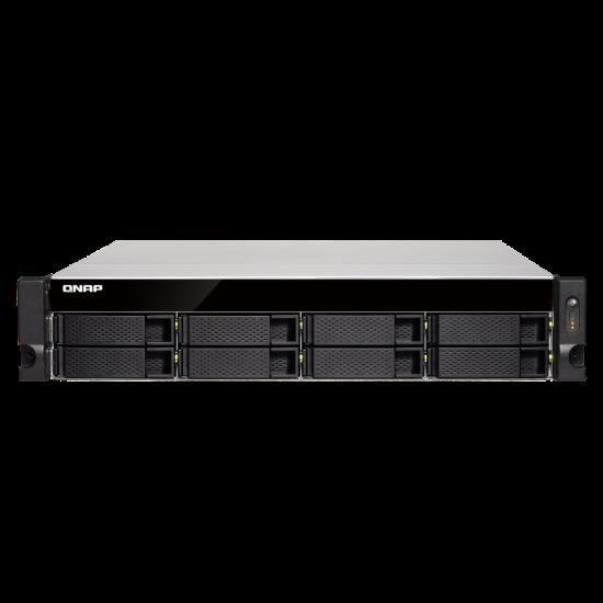 Qnap Ts-863Xu-Rp-4G 8-Bay TurboNAS, Amd Quad-Core 2.0GHz, 4GB DDR3L Ram (Max 16GB), 1 X 10GbE 10Gbase-T (Pre-Installed PCIe Card), 2 YRS Ar WTY ( No Rail )