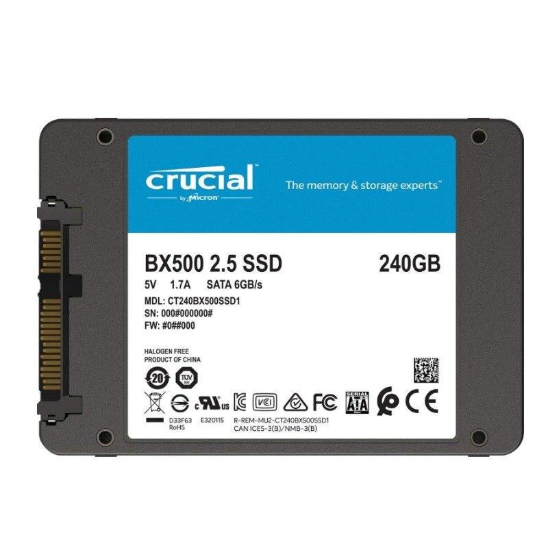"Crucial BX500 240 GB Solid State Drive - 2.5"" Internal - SATA (SATA/600)"