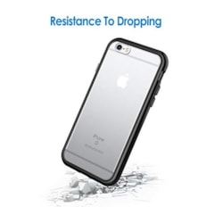 JETech Case for Apple iPhone 6 and iPhone 6s, Shock-Absorption Bumper Cover, Anti-Scratch Clear Back, Black